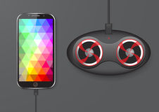 Touch Screen Mobile Phone and Speaker - Vector Illustration Stock Photo