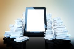Touch screen pad on color background Royalty Free Stock Images