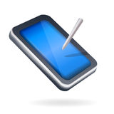 Touch screen pad device Royalty Free Stock Image
