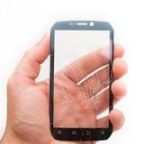 Touch screen rotto del telefono Immagine Stock