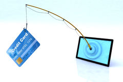 Touch screen security concept. Touch screen privacy security concept 3d illustration Stock Photography