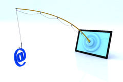 Touch screen security concept. 3d illustration Stock Photography