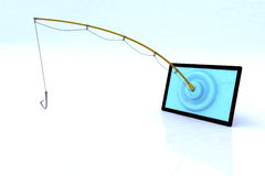 Touch screen security concept. 3d illustration Stock Photos