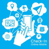 Touch screen Smart Phone ,navigator Stock Images