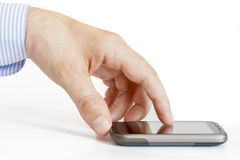 Touch screen smartphone Royalty Free Stock Images
