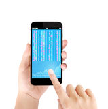 Touch screen smartphone Stock Image