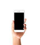 Touch screen smartphone in hand. Touch screen smartphone in a hand Stock Images