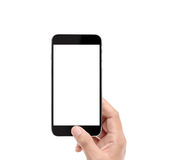 Touch screen smartphone in hand. Touch screen smartphone in a hand Royalty Free Stock Images