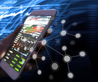 Touch screen smartphone in hand. Touch screen smartphone in a hand Stock Photo