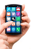 Touch screen smartphone Royalty Free Stock Photos