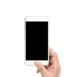 Touch screen smartphone in hand. Touch screen smartphone in a hand Stock Photos