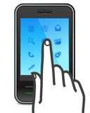 Touch screen smartphone icon Stock Images