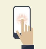 Touch screen smartphone icon Stock Photography