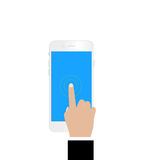 Touch screen smartphone Royalty Free Stock Photo