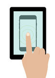 Touch screen smartphone Stock Photo