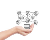 Touch Screen Social Network Stock Photography