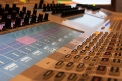 Touch screen sound desk Stock Images