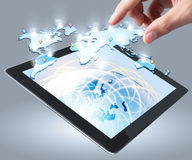 Touch screen tablet Royalty Free Stock Photo