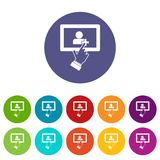 Touch screen tablet click set icons Royalty Free Stock Image