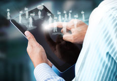 Touch screen tablet. With communication Royalty Free Stock Images