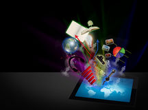Touch screen tablet computer. Royalty Free Stock Image