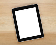 Touch screen tablet computer with blank screen Stock Photo