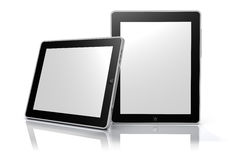 Touch screen tablet devices (clipping path) Royalty Free Stock Images