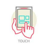 Touch screen tablet PC sign icon Stock Image