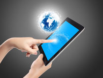 Touch screen tablet Royalty Free Stock Image