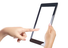 Touch screen tablet and shows tablet Royalty Free Stock Photo