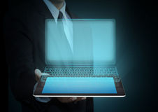 Touch screen tablet technology and social media Royalty Free Stock Images