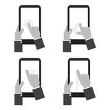 Touch Screen On Tablet. Touch Screen On Tablet Vector Illustration Royalty Free Stock Images
