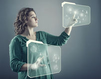 Touch screen tehnology Stock Image
