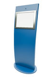 Touch screen terminal. Digital touch screen terminal. 3D render Royalty Free Stock Images
