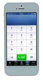 Touch Screen von iPhone 5 Stockbild