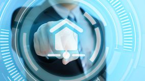 Touch smart home icon Royalty Free Stock Photo