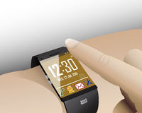Touch Smart Watch Royalty Free Stock Images