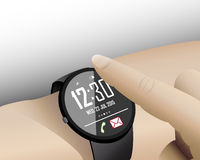 Touch Smart Watch in Writs Stock Photo