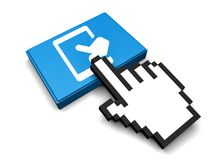 Touch Tab Icon. 3D Illustration Touch Tab Vector Icon Royalty Free Stock Photos
