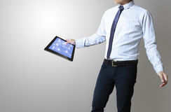 Touch tablet concept Royalty Free Stock Photography