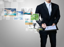 Touch tablet concept Royalty Free Stock Photo