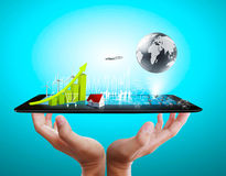 Touch tablet concept Royalty Free Stock Photos