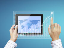 Touch- tablet in hands Royalty Free Stock Image