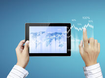 Touch- tablet in hands Stock Photos