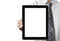 Touch- tablet in hands Stock Photography