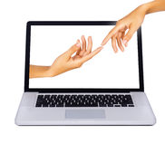 The touch of technology concept Royalty Free Stock Photo