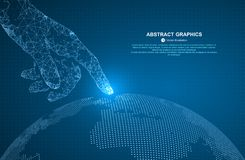 Free Touch The Future, Vector Illustration Of A Sense Of Science And Technology. Royalty Free Stock Image - 113529416