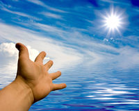 Touch to beautiful star Stock Images