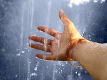 Touch of water Stock Photography