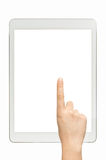 Touch white screen tablet Royalty Free Stock Photography